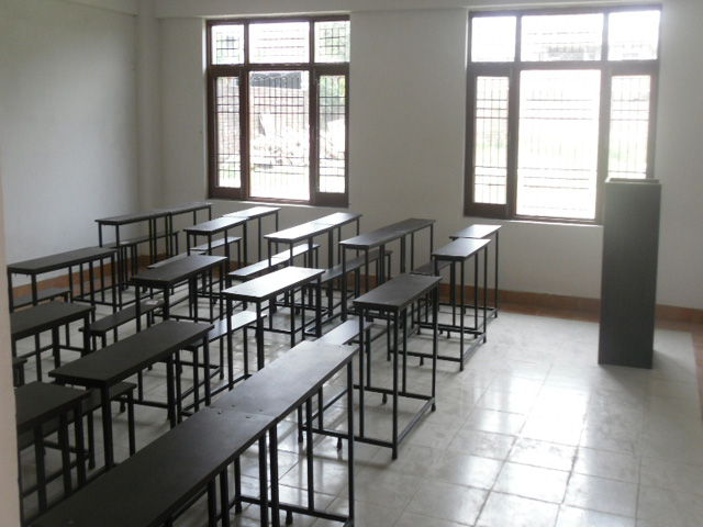Side view of a class room